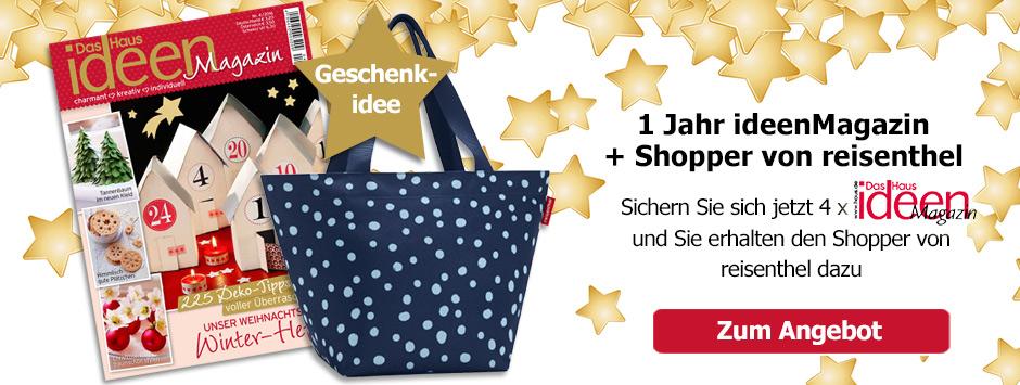 1 Jahr IdeenMagazin + Shopper von reisenthel sichern!