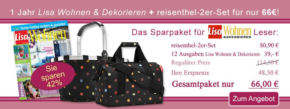 Lisa Wohnen & Dekorieren + reisenthel 2er-Set sichern!