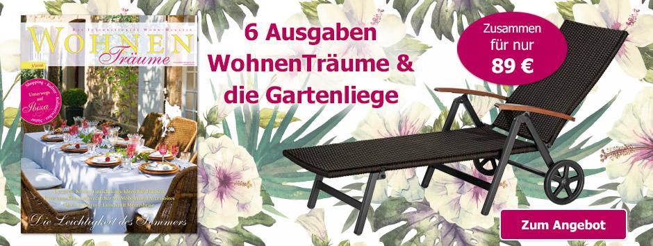 6 x WohnenTräume + Gartenliege