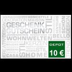 10 € Depot-Gutschein