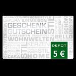 5 € Depot-Gutschein