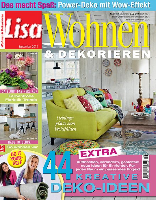 Lisa Wohnen & Dekorieren - aktuelle Ausgabe 09/2014