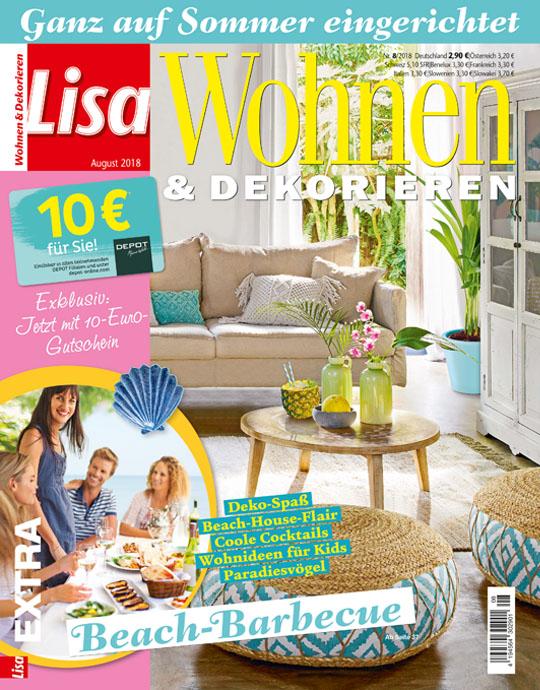 wohnen und garten lisa wohnen dekorieren exklusive pr mien sichern. Black Bedroom Furniture Sets. Home Design Ideas